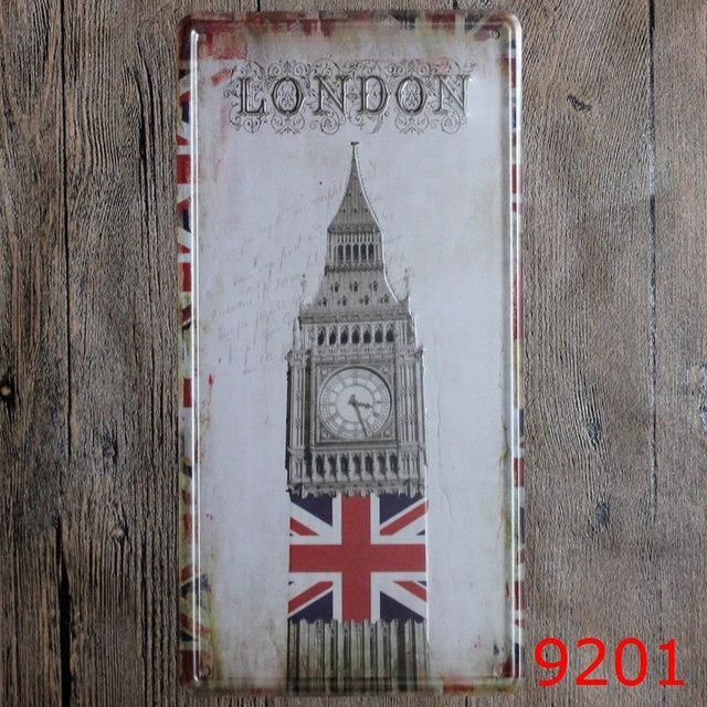 30X15CM Big Ben in LONDON Vintage Home Decor Tin Sign for Wall Decor ...