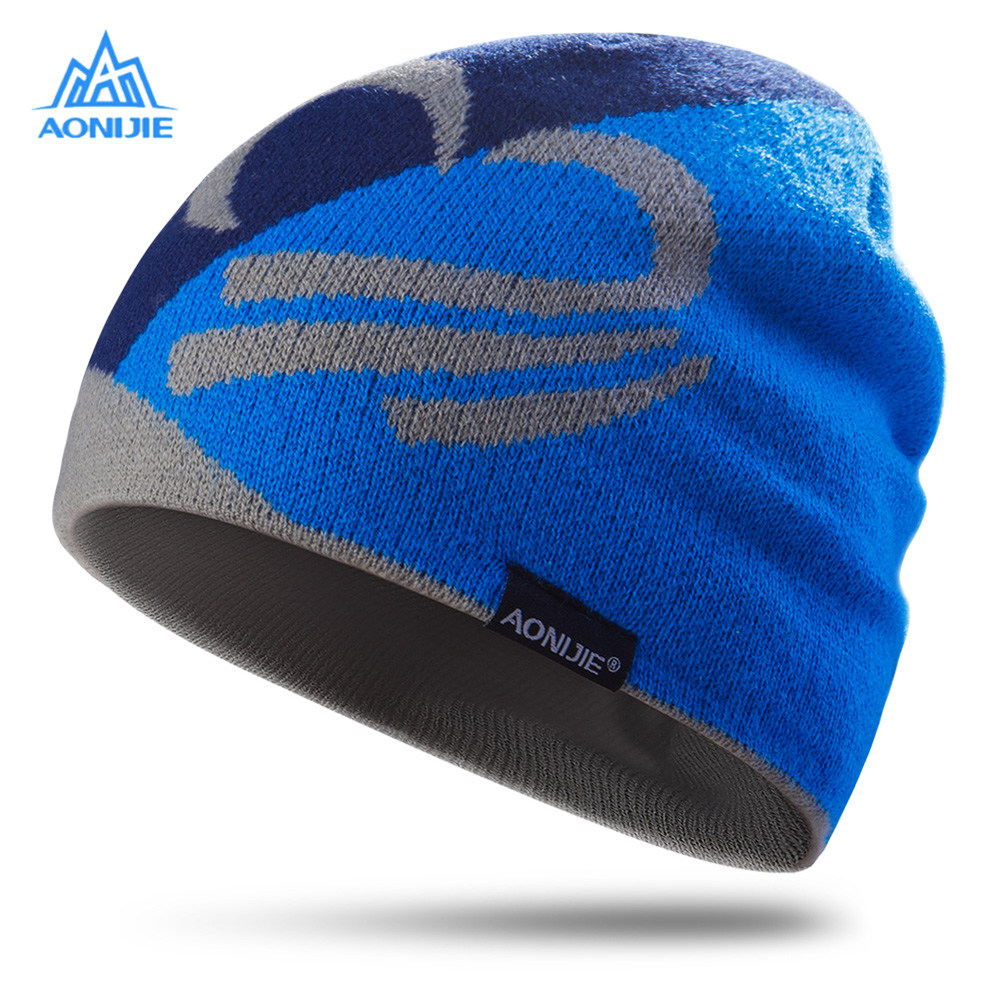 Aonijie Winter Knitted Hats Outdoor Sports Snowboarding Cap Winter Windproof Thick Warm Running Cap Ski Running Caps