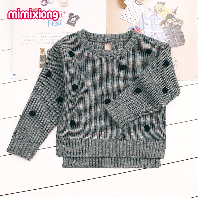 Dots Crochet Sweater For Girls Newborn Baby Boys Knit Pullovers