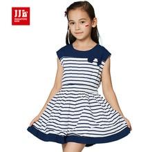princess girls dress striped kids dress korean style girls chiffon dress size 6-15t girls clothing summer kids dress