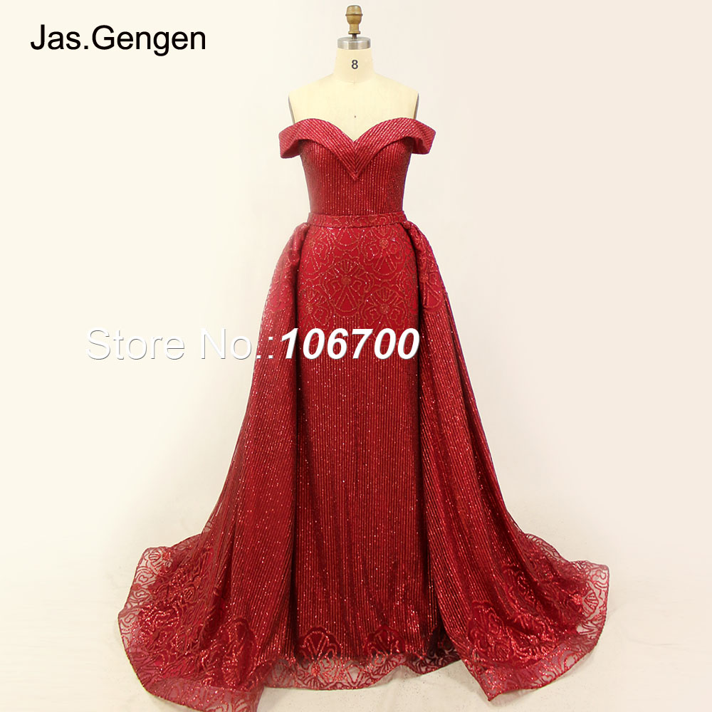d6a55c5fa3 Bling Real Photos Detachable Tail Formal Evening Dresses Long ...