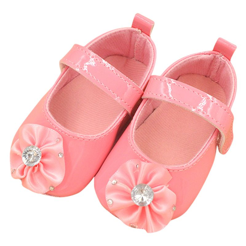 0 12m sweet baby girls pre walker soft pu partywedding toddler princess flower shoes