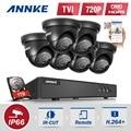 ANNKE 8CH 1080N TVI P2P DVR 6x 1500TVL IR In/Outdoor Security Camera System CCTV Surveillance Kit 1TB Hard Drive