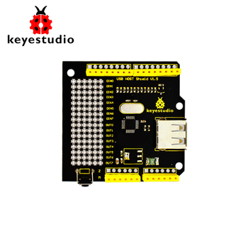 Free shipping! keyestudio USB Host V1.5 Shield Compatible with Google Android ADK support UNO MEGA for Arduino