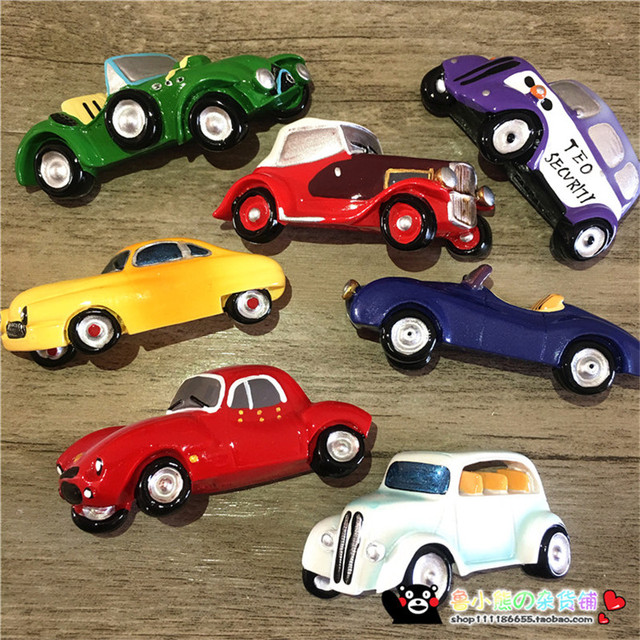 New D Resin Old Classic Cars Shaped Fridge Magnet Vintage - Old classic cars