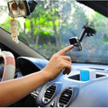 Universal 360 Degree Rotating Double Side Car Dashboard Windshield Suction Stand Holder Bracket Mount For Mobile Phone MP4 GPS