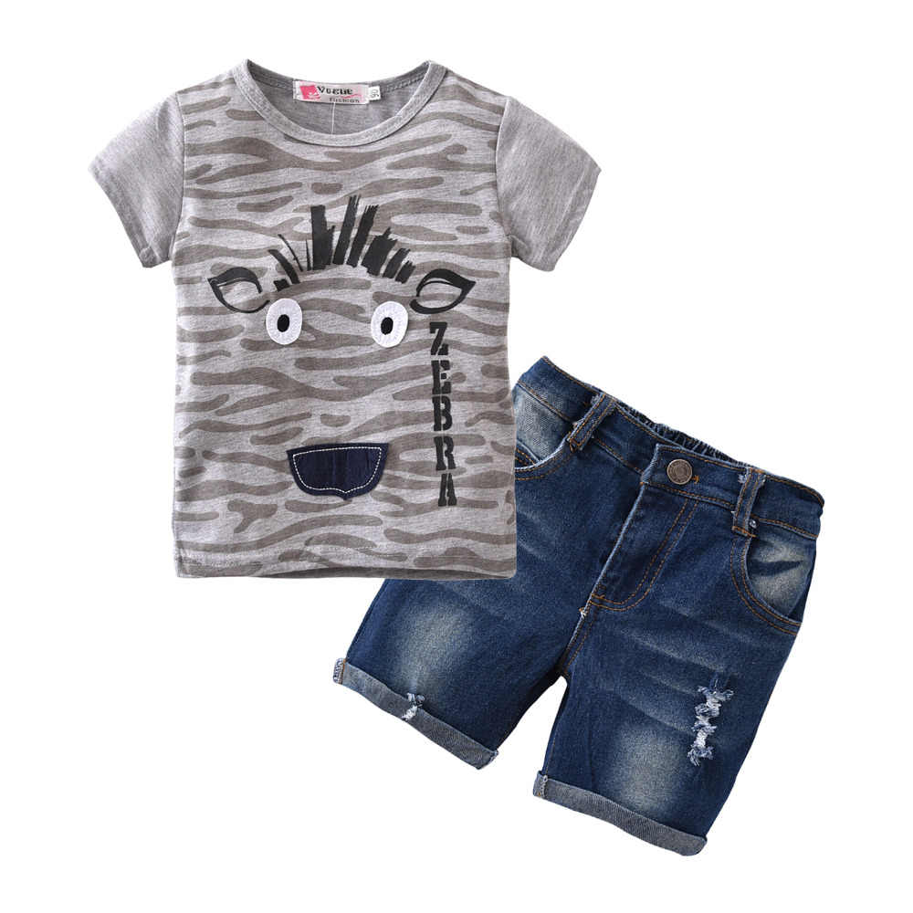 33ab28357f503 ... 2019 Hot Sale Baby Kids Boy Clothes Summer style Short-sleeved T-shirt+  ...