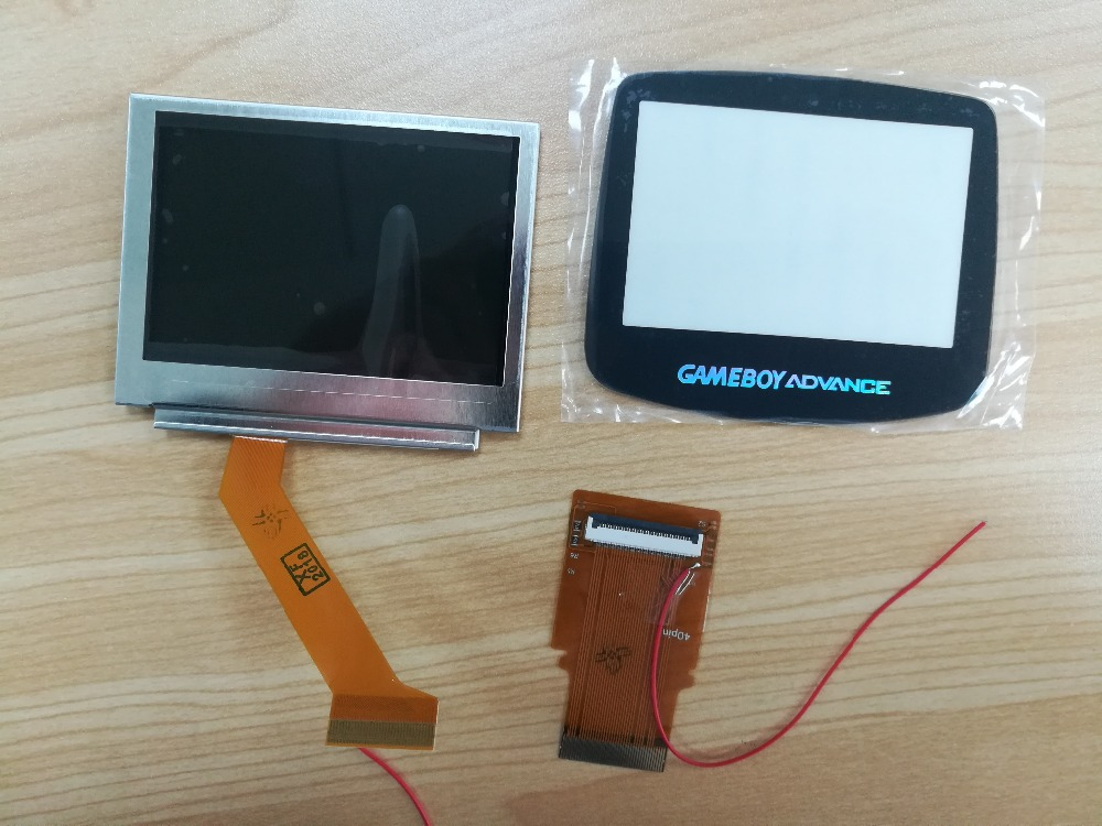 1Set Hightlight LCD screen BRIGHTER backlit screen AGS 101 for GBA SP Screen with 32 40pin
