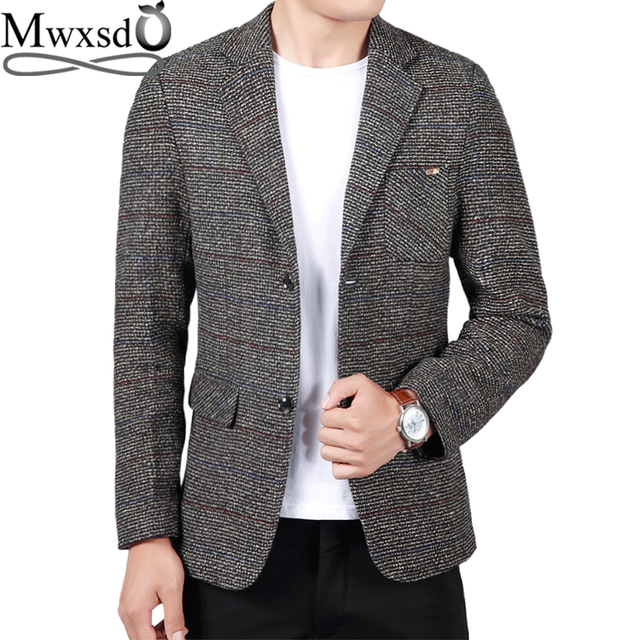 Mwxsd brand casual men Suit Blazer business blazer jacket Slim fit male blazer masculino 2019 vetement homme