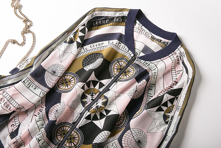 New baseball collar printed silk air conditioning cardigan is prevented bask in clothes - 2