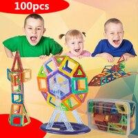 100 יחידות מגנטי מיני סט מעצב 3d diy צעצועי לבנים חינוכיים צעצוע אבני בניין בנייה מגנטית לילדים