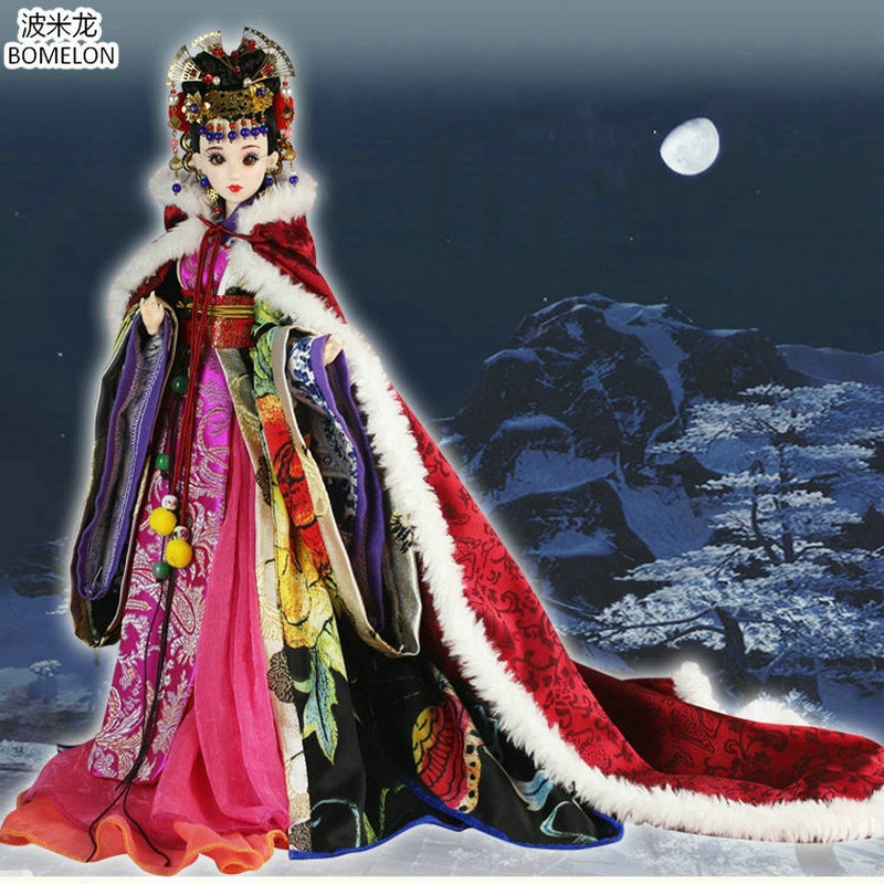 High-quality Fox Spirit Beauty Doll Hand-made Chinese Costume 12 Jointed Bjd 1/6 Dolls Toys Girl Christmas Gifts Collection pure handmade chinese ancient costume doll clothes for 29cm kurhn doll or ob27 bjd 1 6 body doll girl toys dolls accessories