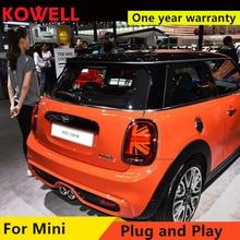 KOWELL Car Styling For BMW MINI F55 F56 F57 2014 2016 Led Tail Lights Fog lamp Rear Lamp DRL+Brake+Park+Signal lights