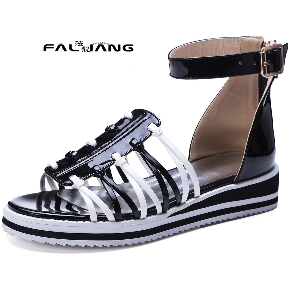 ФОТО Big Size 11 12 Pu material for surface Waterproof Taiwan Root bag women's sandals women's shoes woman for women platform shoes