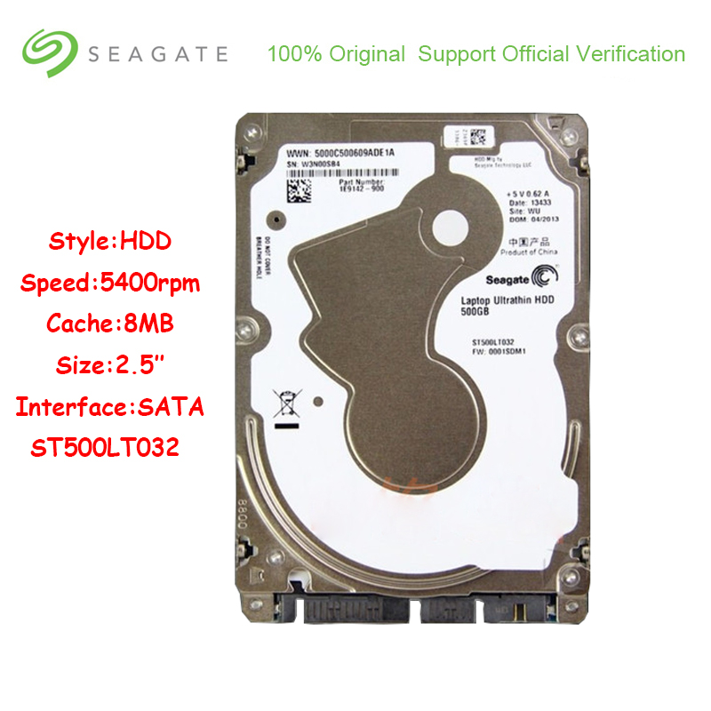 Original Seagate 500GB Hard Drive Disk For Laptop 5400RMP 16MB Cache 2.5 inch <font><b>HDD</b></font> SATA2.0 <font><b>3Gb</b></font>/s Interface 5mm Internal Hard Disk image