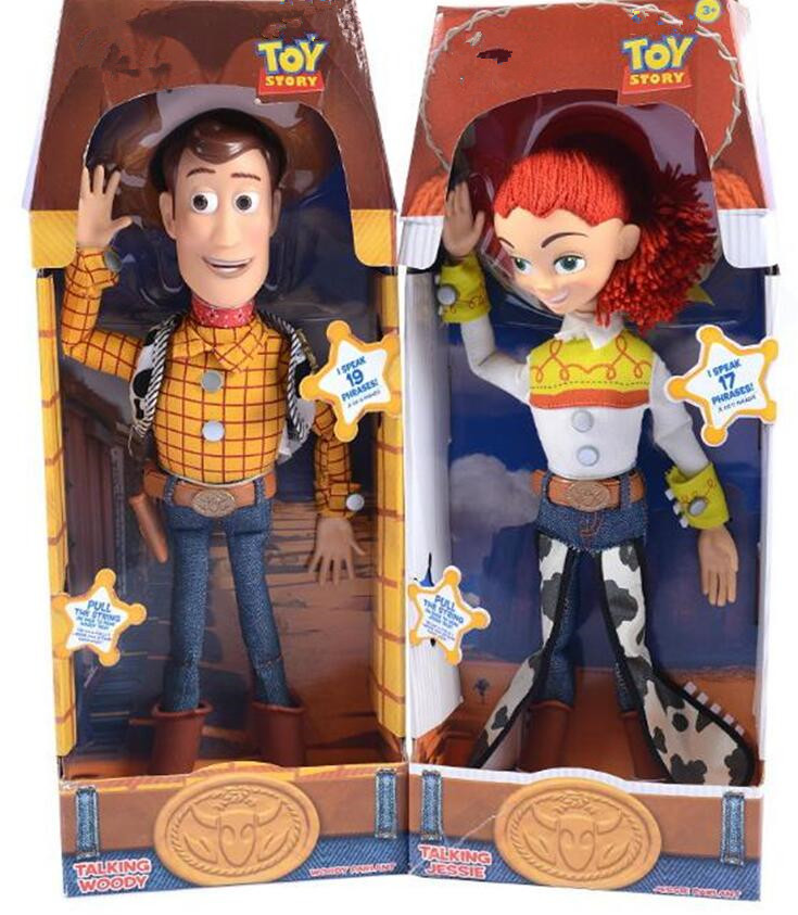 2019 Toy Story 3 Talking Jessie Woody PVC Action Toy Figures Model Toys Children Birthday Gift Collectible Doll