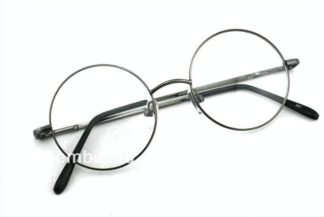5388b85fbed1 46mm VINTAGE ROUND EYEGLASS FRAMES FULL-RIM gray EYE GLASSES MEN   WOMEN  EYEGLASSES PRESCRIPTION OPTICAL 207