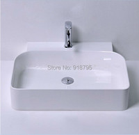 Rectangular bathroom solid surface stone counter top Vessel sink fashionable Corian washbasin RS38178 730