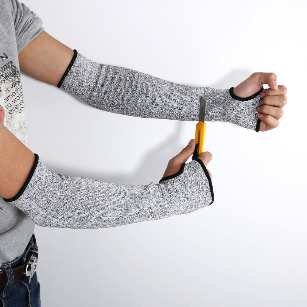 1Pair Safety Arm Guard Bracers Protector HPPE Nylon Cut Proof Anti Abrasion Stab Cut Resistant Armband Long Sleeve Gloves Work1Pair Safety Arm Guard Bracers Protector HPPE Nylon Cut Proof Anti Abrasion Stab Cut Resistant Armband Long Sleeve Gloves Work