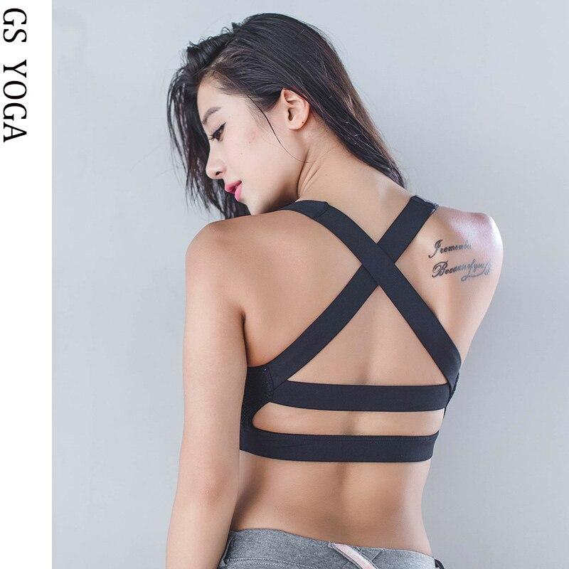 Woman Sexy backside  Sports Bra  Workout Jogging Push up