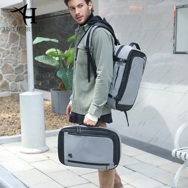 2018 ARCTIC HUNTER Disassemble Multifunction 17 inch Laptop Backpacks For Teenager Business  Men Travel Backpack Bag lt3212 3bs0121712gp e59670 fsp205 3e01c used disassemble