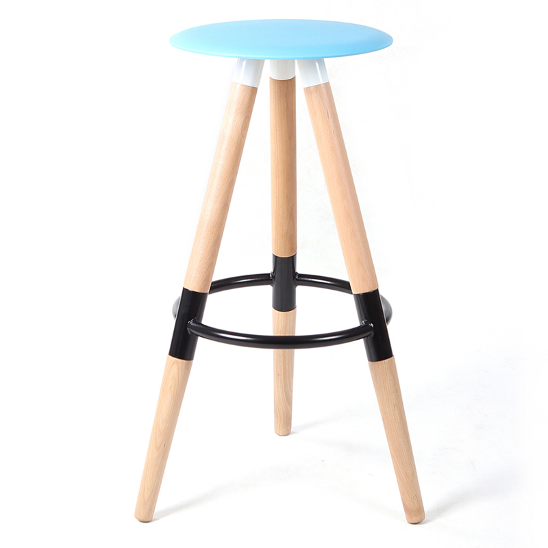 Solid wood bar chair household special offer simple European style fashion high foot stool FREE SHIPPING starbucks chair high stool bar chair high solid wood