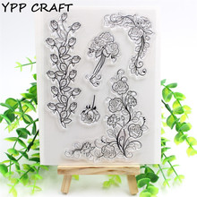 YPP CRAFT Rose Transparent Clear Silicone Stamps for DIY Scrapbooking/Card Making/Kids Christmas Fun Decoration Supplies