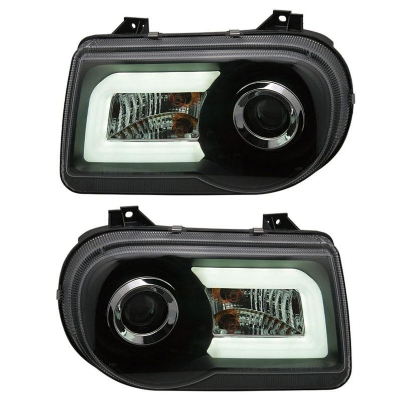 for Chrysler 300C Tube light Project lens Headlights fit 2005-2010 year models V2 type elaine marmel project 2010 bible
