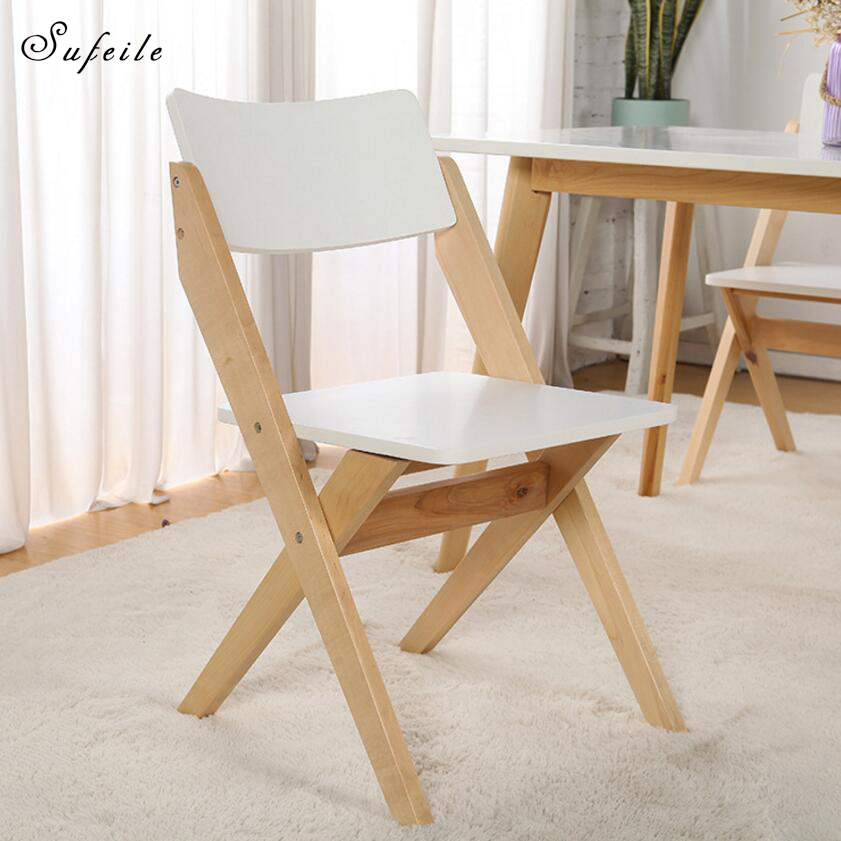 sufeile foldable computer chai deck chair portable folding chairs simple modern solid wood nap leisure outdoor
