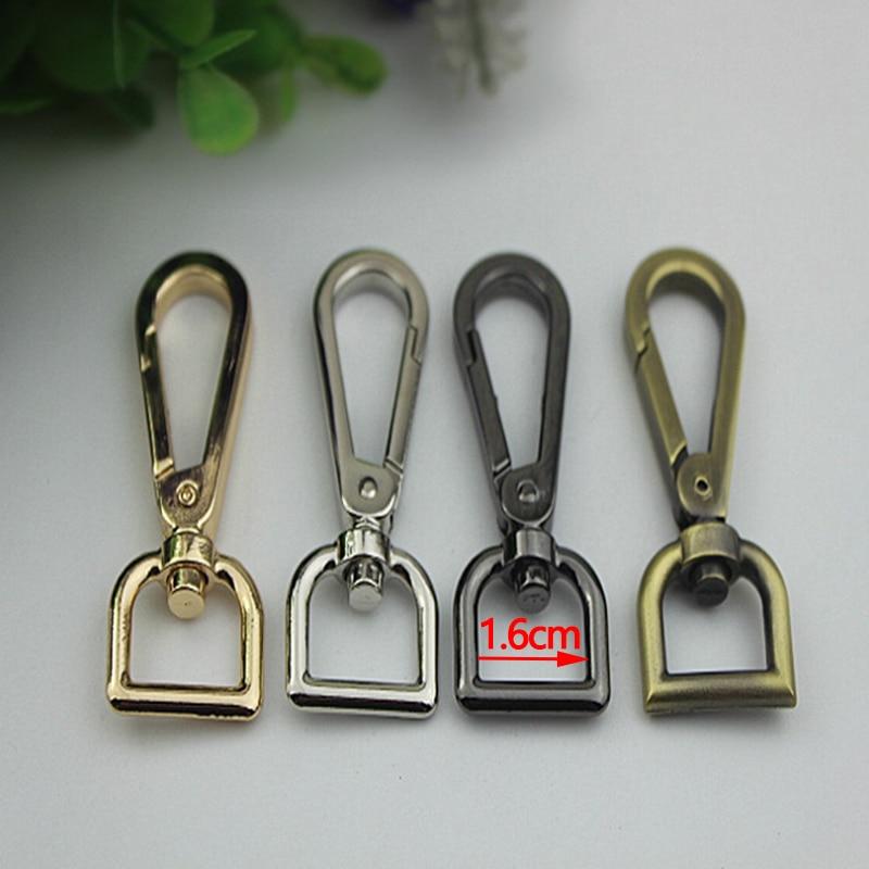 (30 Pcs/ Lot) 16mm( Interior) Gold, Silver, Gun Black, Bronze Metal Lobster Clasps Swivel Trigger Clips Snap Hooks for Bag Strap nervilamp 710 2a gold bronze