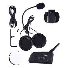 V4 BT 1200M Moto Intercomunicador Bluetooth Auriculares Interphone Interfono with FM Radio for 4 Riders Headset Intercom Newest