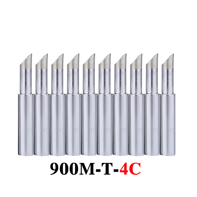 10Pcs/lot <font><b>900M</b></font>-<font><b>T</b></font>-<font><b>4C</b></font> Soldering Tip Lead-free Welding Sting Soldering Iron Tip for 936 BGA Soldering Station Tools image
