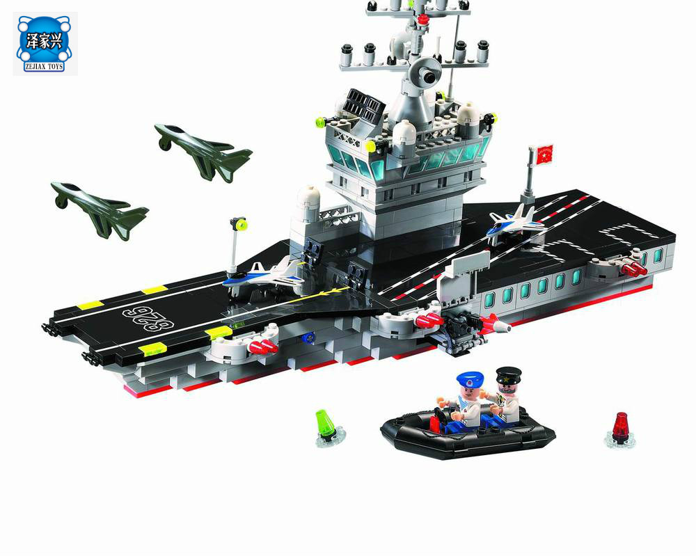 Hot Military Navy Aircraft & Carrier Battle Ship 508pcs Bricks Figures Toys Compatible Lepins & Enlighten Building Block Boat hot city series aviation private aircraft lepins building block crew passenger figures airplane cars bricks toys for kids gifts