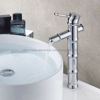 Polished Chrome Bathroom Basin Sink Faucet Bamboo Single Handle Single Hole Mixer Tap Deck Mounted Bnf047