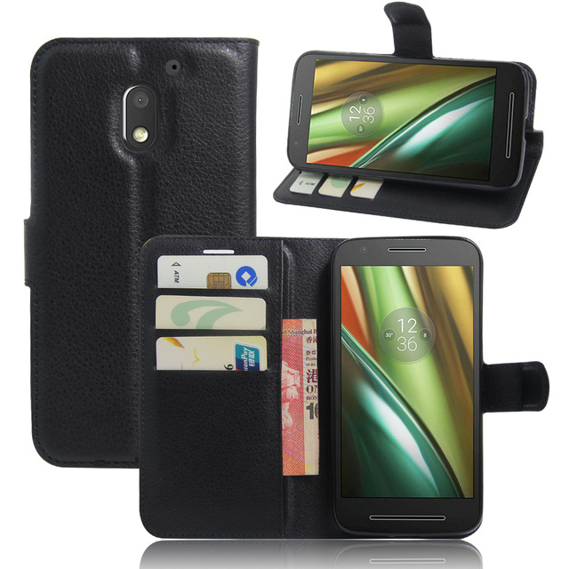 new product f29b1 a92dc US $3.56 19% OFF|CYBORIS for Motorola Moto E3 Power Wallet Leather Phone  Case for Moto E3 Power Flip Cover Stand Wallet Bag Card Holder-in Wallet ...