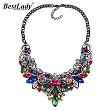 Best lady Color Gem Crystal Women Brand Maxi Statement Necklaces& Pendants Vintage Turkish Wholesale Collar Choker Necklace 2745(China)