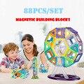 Juguete magnético 88 unids Mini modelos magnéticos y bloques de construcción de construcción escenógrafo niños juguetes educativos