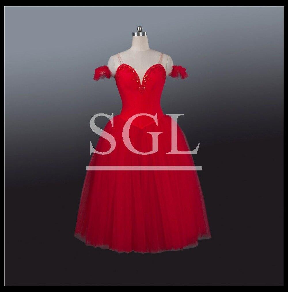2016 г. Красные длинные юбки для взрослых и девочек романтические юбки пачки для балета или выступлений, классическая юбка пачка для танцевал