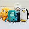 Adventure Time Peluches Jake Finn Beemo Pingüino Animales de Peluche de Felpa Películas y TV de Dibujos Animados de Peluche Juguetes Figuras de Juguete