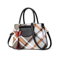 Butterfly Plaid Women Bag 2019 Fashion Women Leather Messenger Handbags Purses Luxury Designer Famous Brand Ladies Shoulder Bag