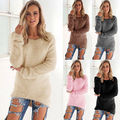 Sexy Womens Long Sleeve Jumper Sweat shirt Coat New Casual Sweater Top Pullover Autumn Winter Outwear