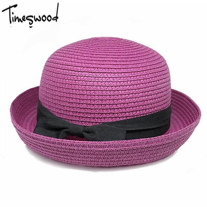 Baru Musim Panas Kubah Panama Topi Jerami Wanita Pantai Topi Topi Matahari  pendayung Untuk Wanita Dewasa dc9182f734