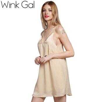 Wink Gal Party Dresses Summer Short Women Sexy Lingerie Sleep Lounge Beige Sleepwear Bathrobe Nightgown 3291