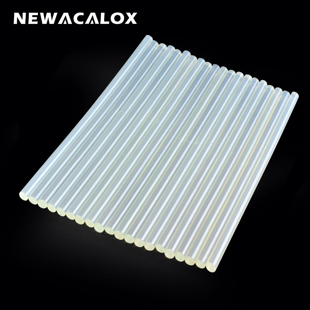 NEWACALOX javítótartozékok 20 db / tétel 11 mm x 270 mm meleg olvadású ragasztópálcák elektromos ragasztópisztoly kézműves Album szerszámok ötvözethez