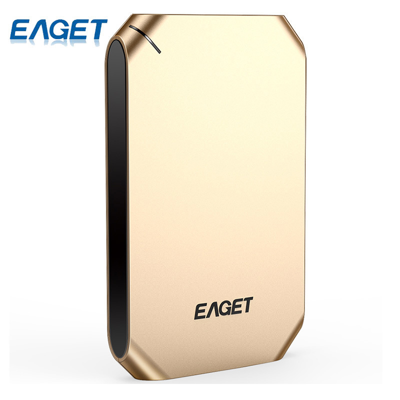 EAGET External Hard Drive 500GB 1T HDD USB 3.0 Hard Disk High Speed Shockproof Encryption Mobile HDD Desktop Laptop Tablets