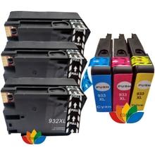 6PK Compatible 932xl 933xl Ink Cartridge For 932 Black 933 Color hp Officejet 6100 / 6600 / 6700 / 7110 7610 printer models original for hp 932xl cn053ae black high capacity ink cartridge