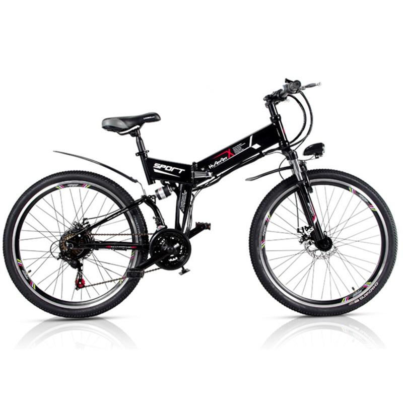 48V 10AH Hidden Battery Electric Folding Bike 26 Inch