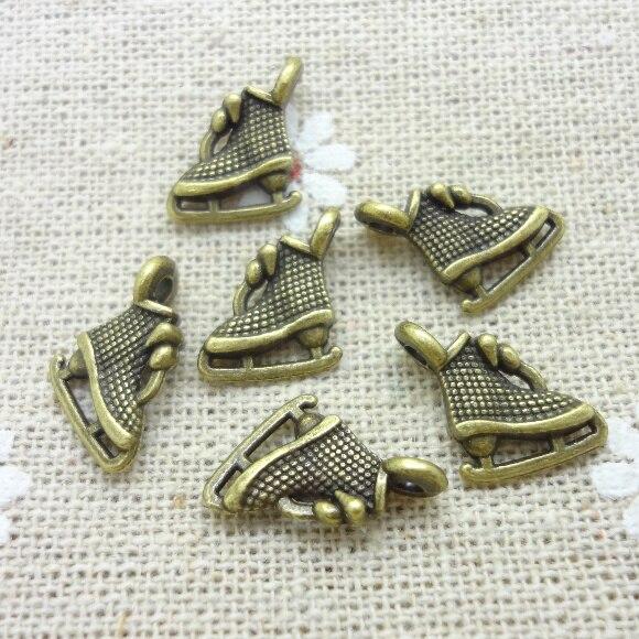 150 шт. подвески для обуви, подвеска, античная бронза, цинковый сплав, подходит для браслета, ожерелья, DIY, металлическая фурнитура для ювелирн...