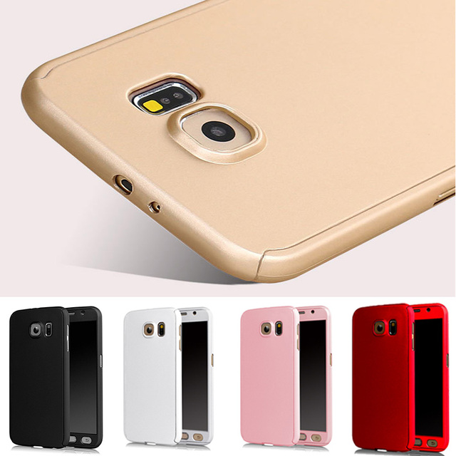 brand new c8a3a aa1a8 US $2.92 5% OFF|SHOCKPROOF Front Back 360 Case For capinhas Samsung Galaxy  S7 S6 Full Body Case Hard PC Hybrid Cover Accessories + Temper Glass-in ...