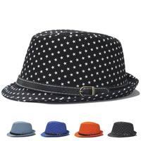 새로운 스타일의 봄과 여름 패션 코튼 페도라 남자 봄 캐주얼 모자 여성 여름 그늘 재즈 캡 별 패턴